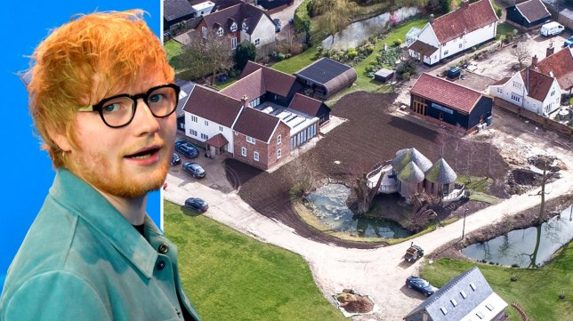 Ed Sheeran 'given permission to build party space in mini village' after shelling out £3.7million to buy out neighbours