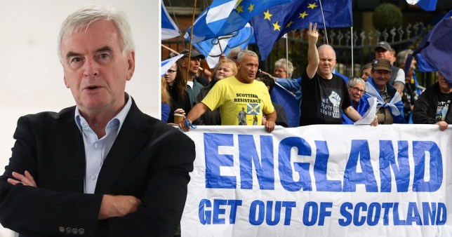 John McDonnell / Scottish independence referendum supporters