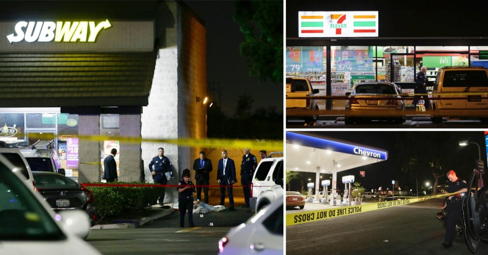 Four dead after man goes on violent two-hour rampage in LA