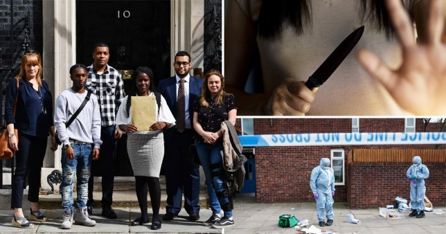 Campaigners and stock images of knife crime