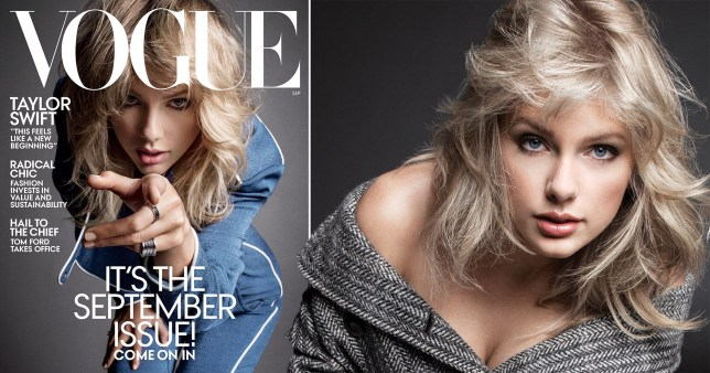 Taylor Swift on the cover of Vogue