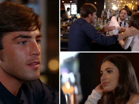Celebs Go Dating's Jack Fincham pies date by setting her up with waiter in awkward scene