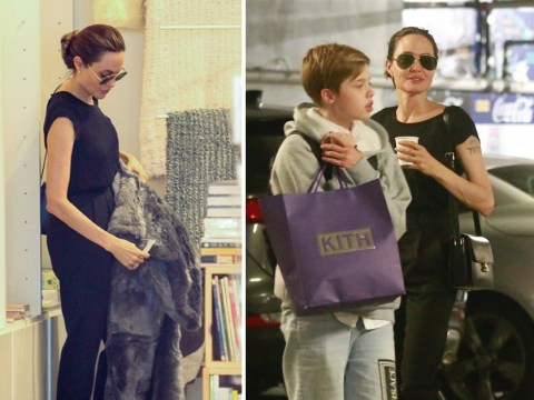 Angelina Jolie takes Shiloh and Zahara shopping in LA proving she is just like us