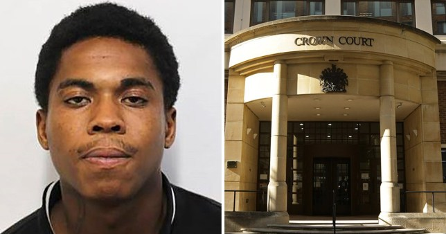 Paryce Duncan, who tried to stab a passenger on a train in London, next to Blackfriars Crown Court