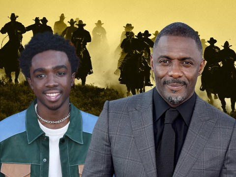 Stranger Things' Caleb McLaughlin and Idris Elba giddy up for new cowboy film