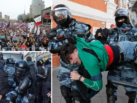 Mass arrests as 50,000 take to streets of Moscow demanding open elections