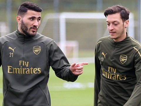 Arsenal's Mesut Ozil and Sead Kolasinac 'under 24 hour guard' as season starts