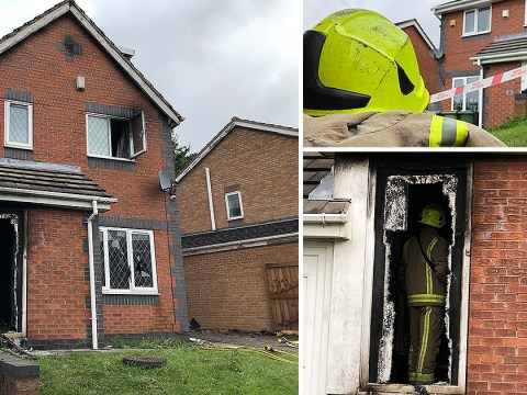 Family forced to flee through windows after fire ravages house in arson attack