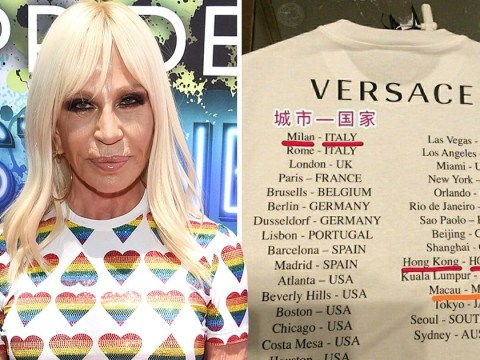 Versace apologises for t-shirts labelling Hong Kong and Macao as countries