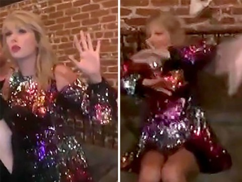 Taylor Swift's VMA nomination party looks lit as she lets hair down and gets 'drunk' with Laverne Cox
