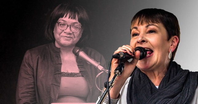 Diane Abbott and Caroline Lucas