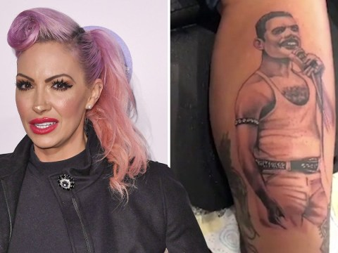 Jodie Marsh wants fans to stop bullying tattoo artist that created her 'unacceptable' Freddie Mercury portrait