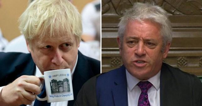 John Bercow and Boris Johnson