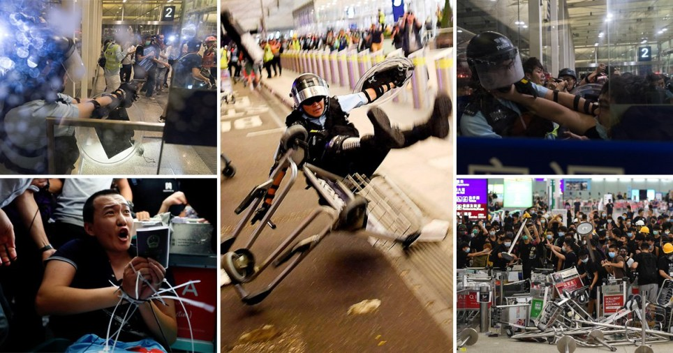 Hong Kong descends into violence