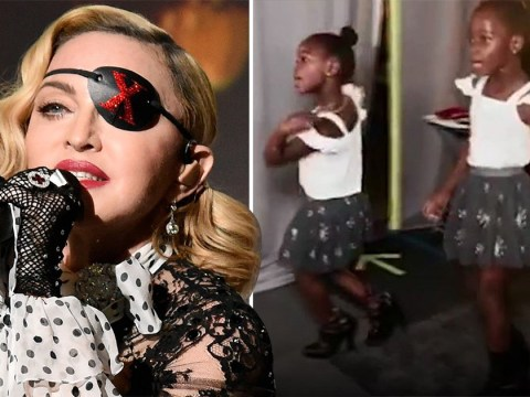 Madonna shares adorable video of 6-year-old daughters wearing her heels and dancing in dressing room