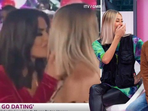 Demi Sims squirms at mention of Megan Barton-Hanson as she discusses kiss