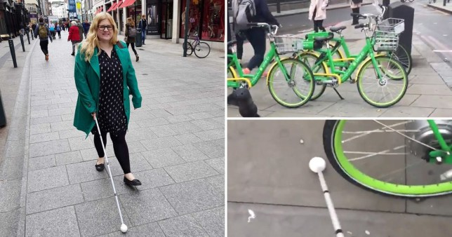 Dr Amy Dr Amy Kavanagh struggles to navigate her way through roads littered with dockless bikes