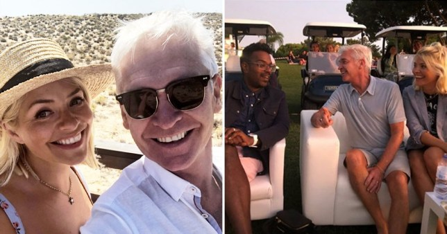 Holly Willoughby and Phillip Schofield brand themselves 'besties' as they holiday with 'friends and fam'
