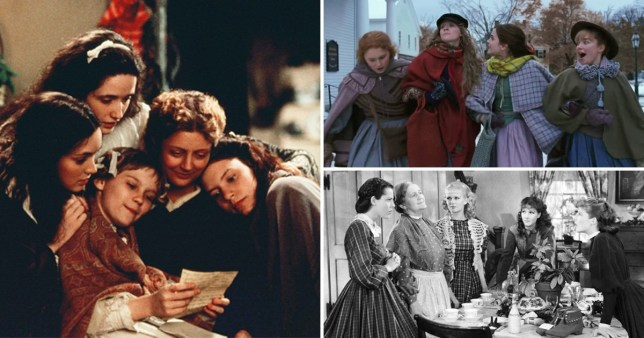 Three pictures from different Litte Women movie adaptations
