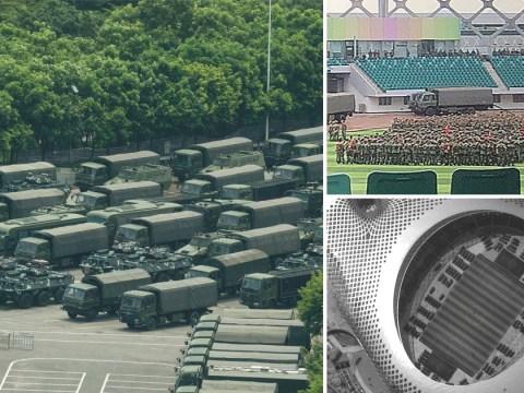 China steps up plan for military action as troops amass at Hong Kong border