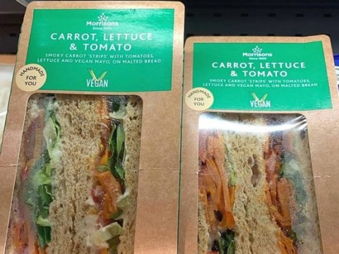 Vegan's anger at replacing bacon with carrot in BLT Morrisons sandwiches