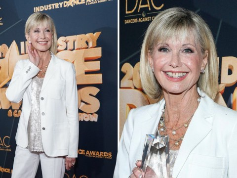 Olivia Newton-John assures fans she's 'doing really well' as she hits red carpet amid cancer battle