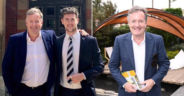 Piers Morgan and his son, Bertie