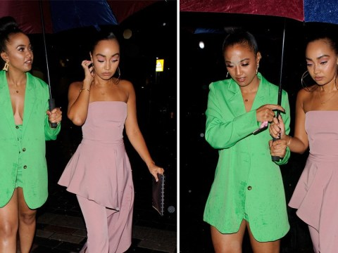 Little Mix's Leigh-Anne Pinnock styles out getting caught in rain as she heads for night out