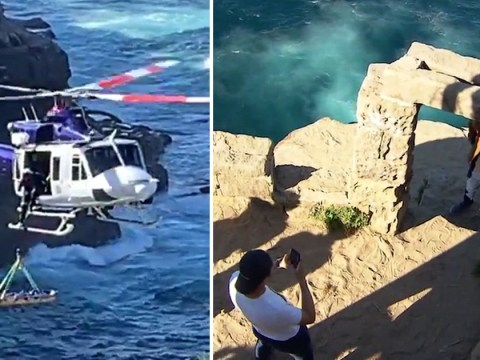 Woman falls to death from cliff 'while trying to take selfie' at beauty spot