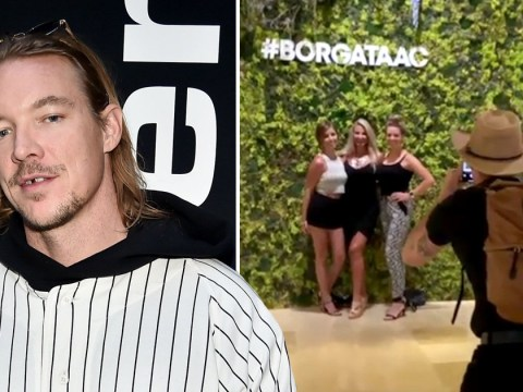 Diplo fans ask Diplo to take their picture and they didn't even realise
