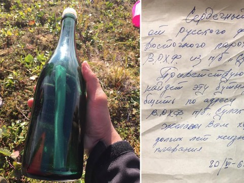 Cold War sailor's message in a bottle found 50 years later