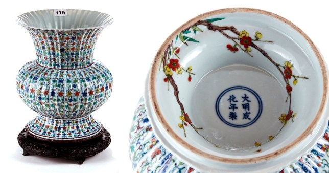 Chinese Vase that was expected to sell for £100 makes £230k at auction