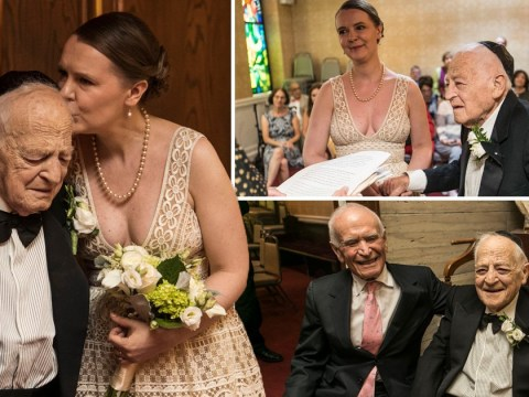 Holocaust survivor, 89, 'can't believe all of this love' as he marries bride, 42