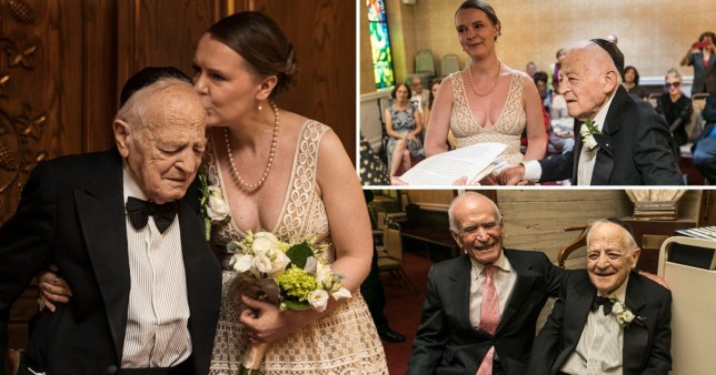 Holocaust survivor marries woman 50 years his junior (Picture: Zandy Mangold)
