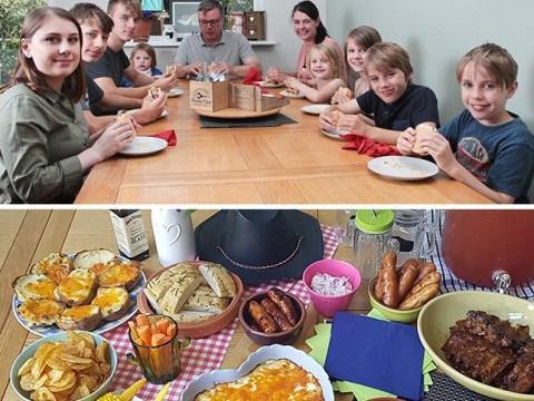 Mum feeds a family of 10 for £150 a week with Nando's and McDonald's 'fakeaways'