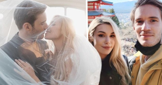 PewDiePie and Marzia Bisognin get married as YouTubers react