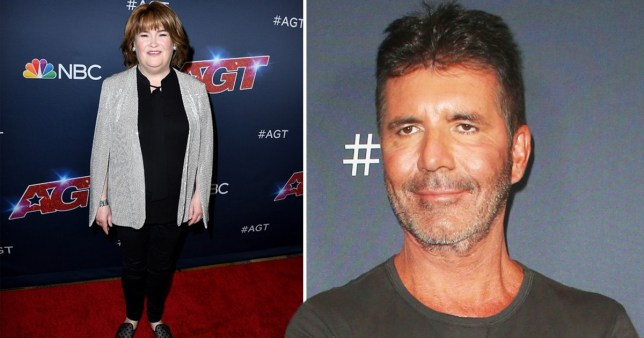 Simon Cowell and Susan Boyle