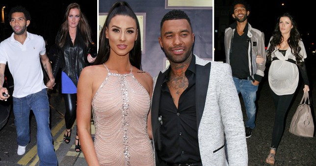 Jermaine Pennant with Amii Grove, Alice Goodwin and Lara Murphy