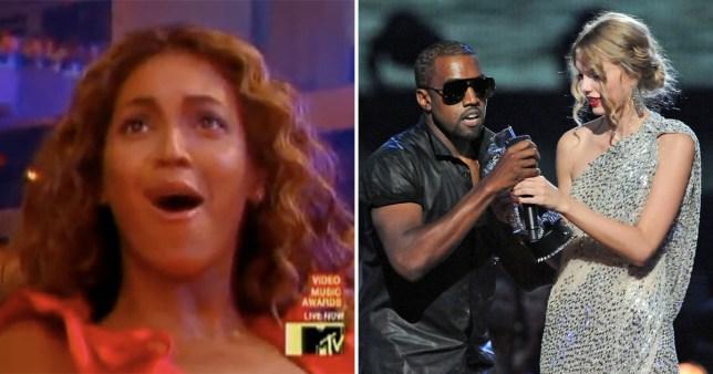 Beyonce, Kanye West, Taylor Swift at the MTV VMAs 2009