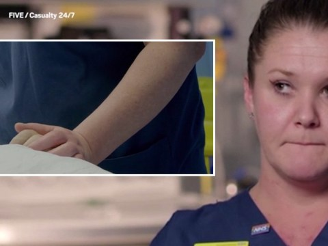 Nurse holds dying woman's hand so she won't be alone as life support stops