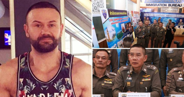 Glen Bailey, 43, was caught in Thailand after allegedly assisted another lad in shooting the 17-year-old (Picture: Viral Press)