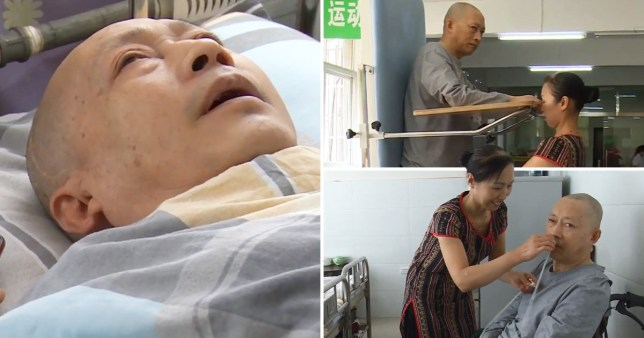 Man wakes up from coma after wife spent 20-hour days caring for him