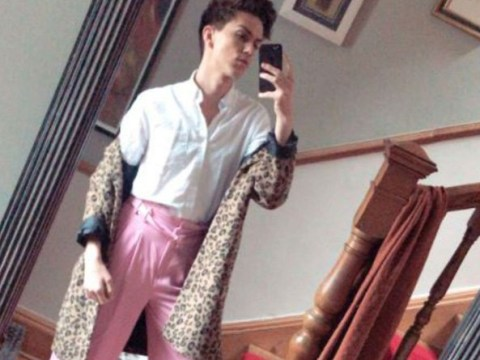 Actor calls out homophobes who called him 'f**' for wearing pink trousers