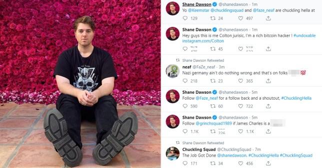 Shane Dawson Twitter hack