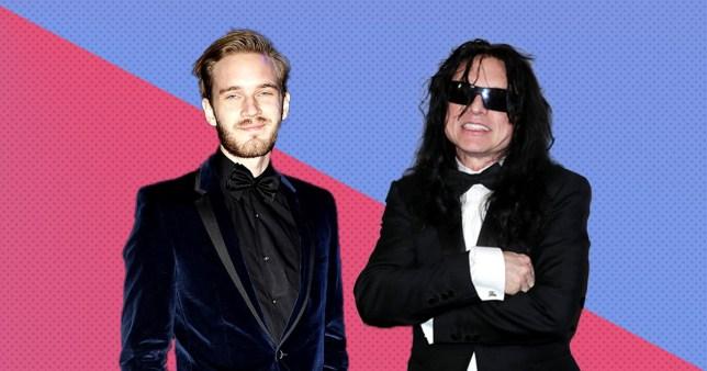 PewDiePie (Felix Kjellberg) and Tommy Wiseau