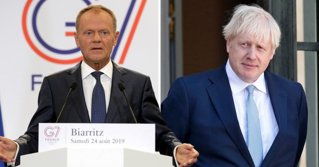 Donald Tusk warns Boris Johnson about a no-deal Brexit at the G7 summit today