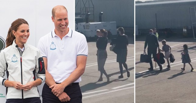 Prince William and Kate were reportedly unaware of the alleged plane swap (Picture: MailOnline)