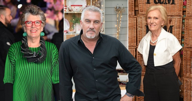 Prue Leith - Paul Hollywood - Mary Berry - Great British Bake Off