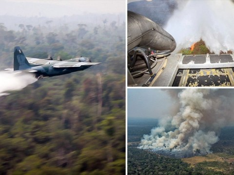 Brazilian war planes used in fight against raging Amazon fires