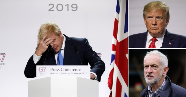 Boris Johnson, Donald Trump, Jeremy Corbyn